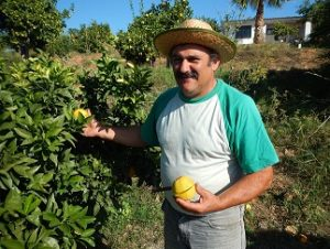 Juanito Orange es uno de los personajes emblemáticos de las huertas del Guadalhorce.
