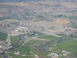 Vega del Guadalhoce desde el castillo de Álora.