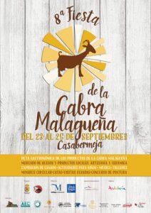 Cartel de esta octava edición de la Fiesta de la Cabra Malagueña.