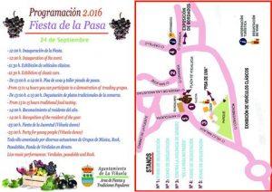 Programa y plano de la Fiesta de la Pasa de La Viñuela.