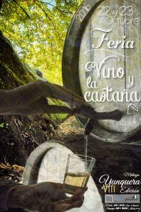 Carte de la Feria del Vino y la Castaña de Yunquera.