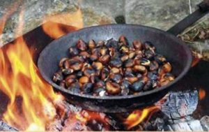 Tostón de castañas en Pujerra.