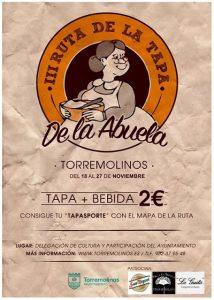 Cartel de la Ruta de la Tapa de la Abuela de Torremolinos 2016.
