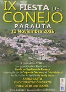 Cartel de la novena edición de la Fiesta del Conejo de Parauta.