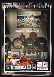 Cartel de esta décimo séptima edición de la Fiesta del Mosto y la Chacina de Colmenar.