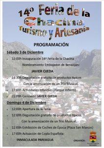 Programa de la Feria de la Chacina de Benaoján.