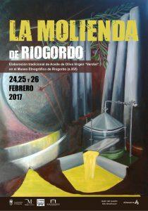 Cartel de esta edición de la Molienda de Riogordo.