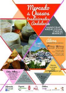 Cartel del Mercado de Quesos Tradicionales de Andalucía (Álora).