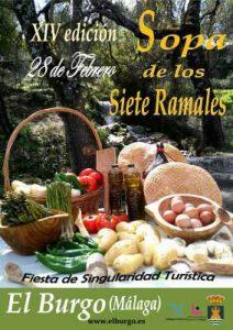 Cartel de esta edición de la Sopa de los Siete Ramales de El Burgo.