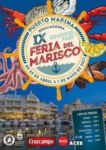 Cartel de la Feria del Marisco de Benalmádena 2017.