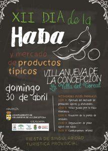Cartel de esta edición del Día de la Haba de Villanueva de la Concepción.