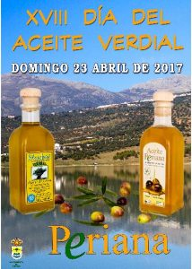 Cartel de esta edición del Día del Aceite Verdial de Periana 2017.