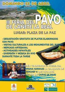 Cartel de la tercera Fiesta del Pavo de Cañete La Real.