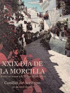 Cartel del Día de la Morcilla de Canillas de Aceituno.