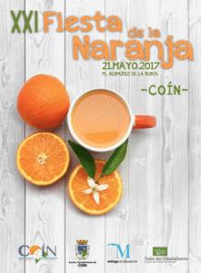 Cartel de la Fiesta de la Naranja de Coín 2017
