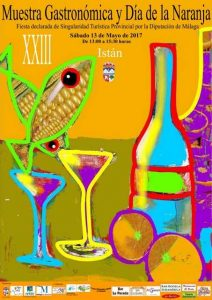 Cartel de esta edición de la Muestra Gastronómica de Istán.