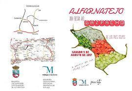 Trípitico Fiesta del Gazpacho de los Tres Golpes de Alfarnatejo 2017