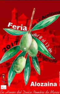 Cartel de la Feria de la Aceituna de Alozaina 2017