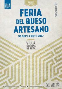 Cartel del la Feria-Mercado del Queso Artesano de Teba 2017.