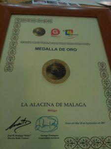 Medalla de Oro del Radio Turismo para La Alacena de Málaga.