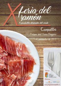 Cartel de la décima Feria del Jamón de Campillos.