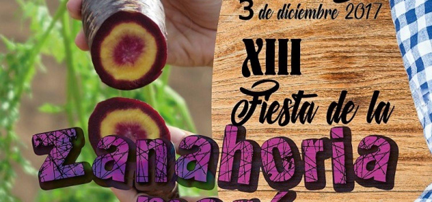 Cartel de la Fiesta de la Zanahoria Morá de Cuevas Bajas 2017