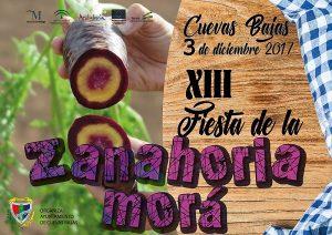 Cartel de la Fiesta de la Zanahoria Morá de Cuevas Bajas 2017.
