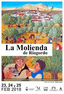 El cartel de La Molienda de Riogordo 2018 está ilustrado por Diego Ceano.