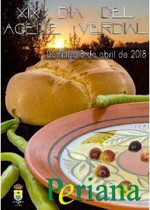 Cartel del Día del Aceite Verdial de Periana 2018.
