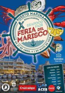 Cartel de la Feria del Marisco de Benalmádena 2018.