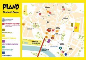 Plano de la Fiesta del Campo 2018.
