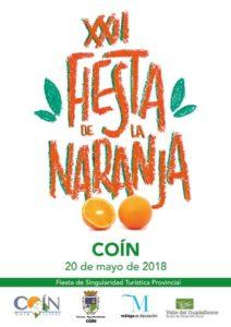 Cartel de la Fiesta de la Naranja de Coín 2018