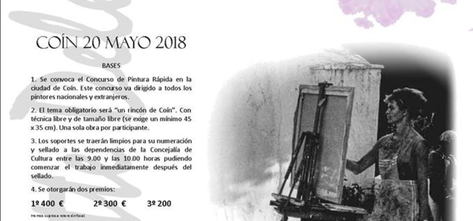 Concurso de Pintura Rápida de la Fiesta de la Naranja de Coín 2018