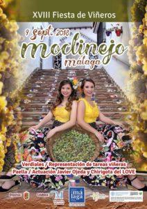 Cartel de la Fiesta de Viñeros de Moclinejo 2018.