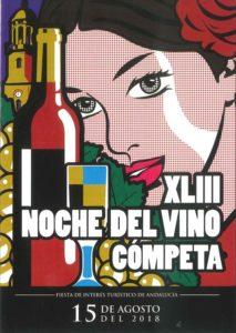 Cartel de la Noche del Vino de Cómpeta 2018.