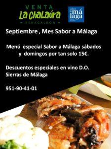Septiembre con Sabor a Málaga en la Venta La Chalaúra.