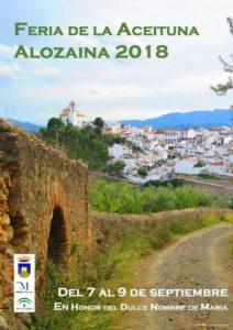 Cartel de la Feria de la Aceituna de Alozaina 2018.