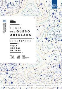 Cartel de la Feria del Queso Artesano 2018.