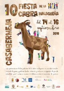 Cartel de la Fiesta de la Cabra Malagueña 2018.