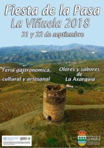 Cartel de la Fiesta de la Pasa de La Viñuela 2018.