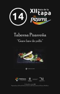Tapa de Taberna Pizarreña.