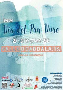 Cartel del Día del Pan Duro de Valle de Abdalajís.