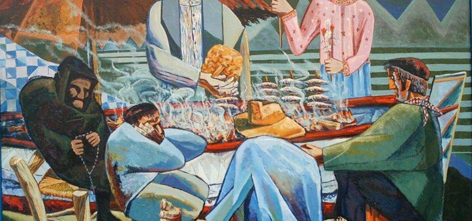 Cipriano Maldonado (Torre del Mar, 1942-2003). La Caleta. Óleo sobre lienzo. 146 x 114 cm.