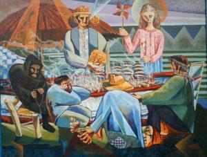 La Caleta. Óleo sobre lienzo. 146 x 114 cm. Autor: Cipriano Maldonado.