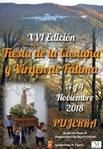 Fiesta de la Castaña de Pujerra 2018.