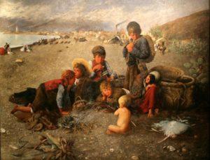 La moraga (1879). Óleo sobre lienzo, 290 x 220 cm. Museo del Patrimonio Municipal de Málaga. Autor: Horacio Lengo.