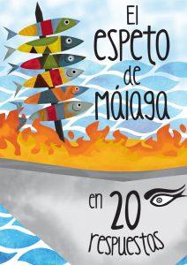 Portada del folleto divulgativo de 'El espeto de Málaga en 20 respuestas'.