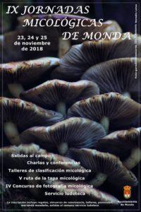 Cartel de las Jornadas Micológicas de Monda 2018.