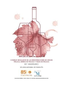 85 aniversario del Consejo Regulador de la Denominación de Origen de los Vinos de Málaga, Sierras de Málaga y Pasas de Málaga.