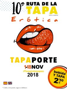 Cartel de la Ruta de la Tapa Erótica de Fuengirola 2018.